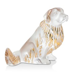 Lalique Golden Retriever Figure Gold Stamped - Bloomingdale's_0