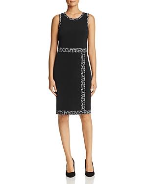 Michael Michael Kors Leopard Border Faux-Wrap Dress