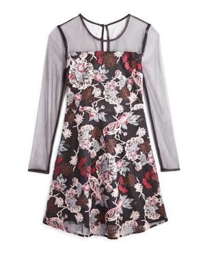 Bardot Junior Girls' Floral-Embroidered Mesh Dress - Big Kid