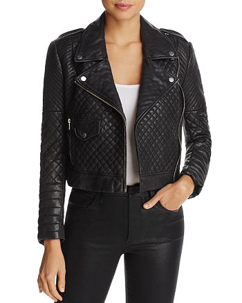Joes Jeans Michelin Quilted Leather Moto Jacket Bloomingdales