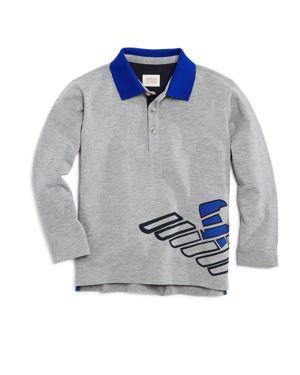 Armani Junior Boys' Color-Block Logo Polo - Little Kid, Big Kid