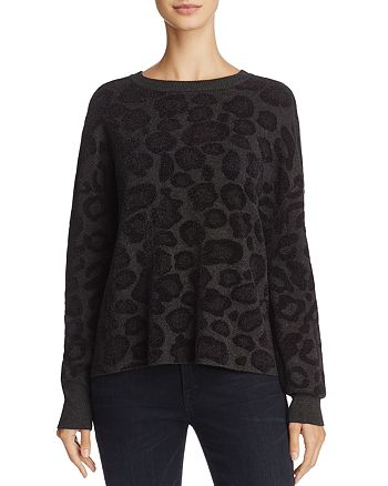 John and Jenn - Teresa Leopard Print Sweater - 100% Exclusive