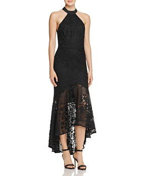 Jarlo - Open-Back High/Low Lace Gown