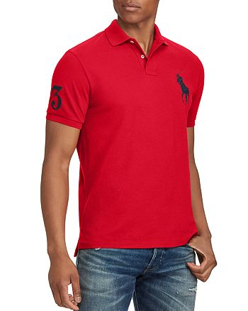 ba47417fa Polo Ralph Lauren Custom Slim Fit Cotton Mesh Polo Shirt ...