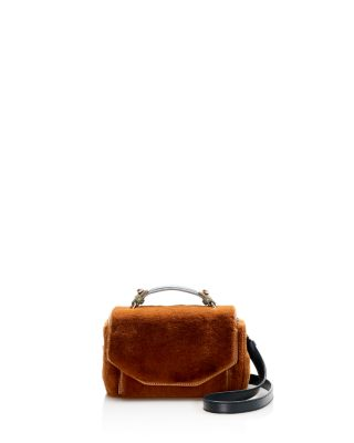 $Maje Faux-Fur Satchel - Bloomingdale's