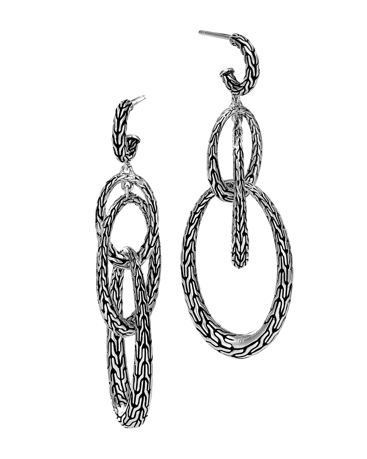 earrings john main diamonds with earring in hardy chain silver classic stud
