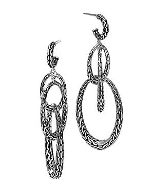 John Hardy Sterling Silver Classic Chain Drop Earrings