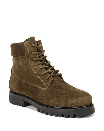 $Vince Women's Farley Suede Lace Up Combat Boots - Bloomingdale's