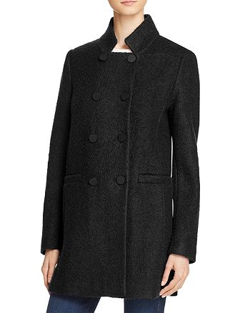 T Tahari - Harper Double-Breasted Front Coat