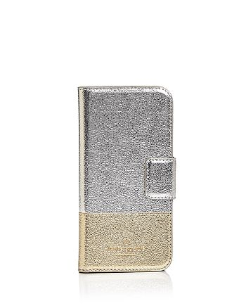 kate spade new york - Wrap Folio Leather iPhone 7/8 Case