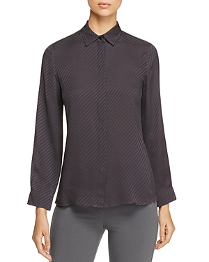 Armani Collezioni Zigzag-Pattern Silk Shirt