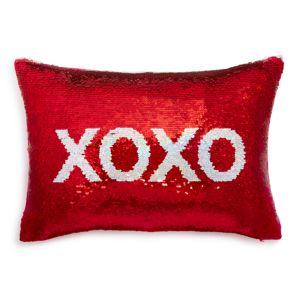 Sparrow & Wren Xoxo Sequin Decorative Pillow, 12 x 18 - 100% Exclusive