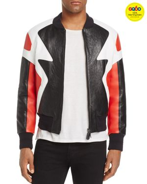 Neil Barrett Color-Block Leather Bomber Jacket - GQ60, 100% Exclusive