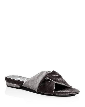 Aska - Women's Emily Velvet Slide Sandals