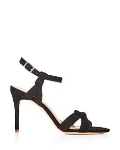 HALSTON HERITAGE - Women's Melanie Suede Knotted High-Heel Sandals