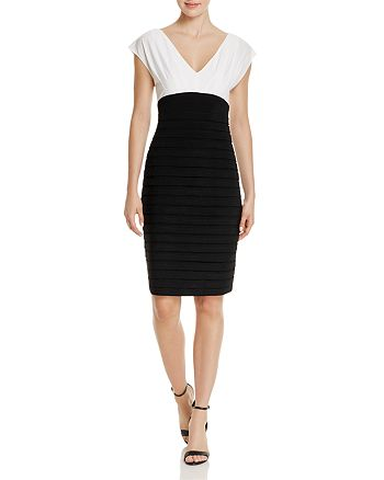 Adrianna Papell - Banded Matte Jersey Sheath Dress