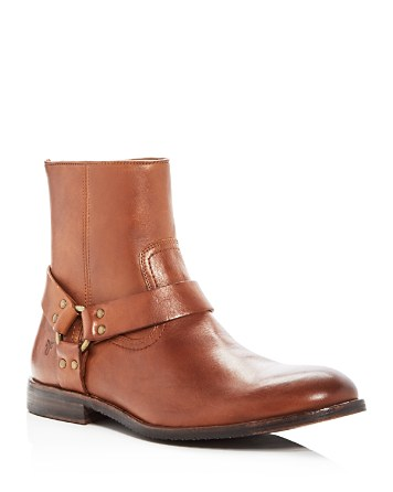 $Frye Men's Sam Leather Harness Boots - Bloomingdale's