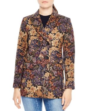 Sandro Alma Floral Jacquard Jacket