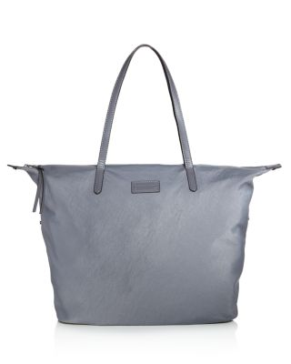 WASHED NYLON TOTE - GREY