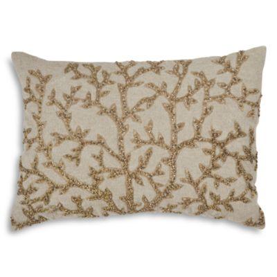$Michael Aram Tree of Life Beaded Linen Decorative Pillow, 14