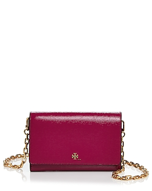 Tory Burch Robinson Patent Leather Chain Wallet