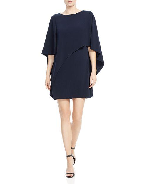HALSTON HERITAGE - Cape Sleeve Capelet Dress
