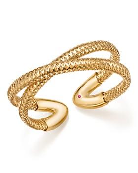 Roberto Coin - 18K Yellow Gold Primavera Crisscross Cuff