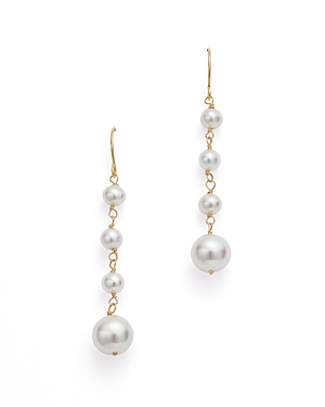Graduated Cultured Freshwater Pearl Drop Earrings in 14K Yellow Gold - 100% Exclusive