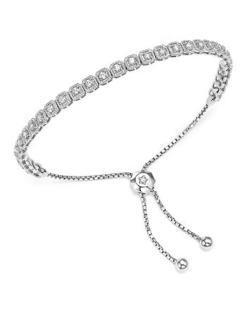 Bloomingdale's - Diamond Milgrain Bolo Bracelet in 14K White Gold, 1.0 ct. t.w. - 100% Exclusive