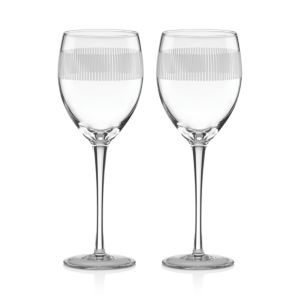 kate spade new york York Avenue Wine Glass, Set of 2