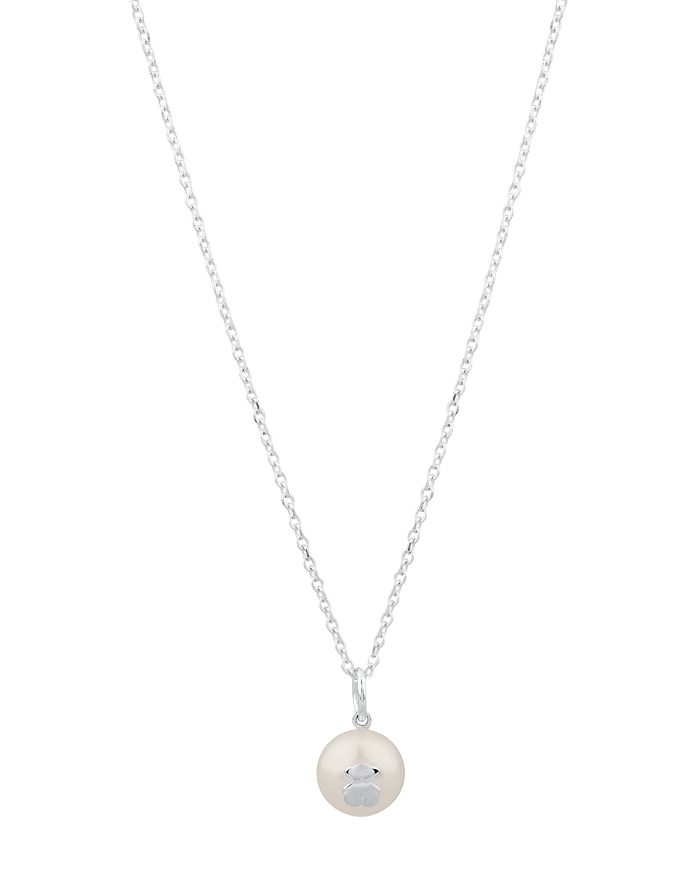 TOUS - Sterling Silver & Cultured Freshwater Pearl Bear Pendant Necklace, 18""