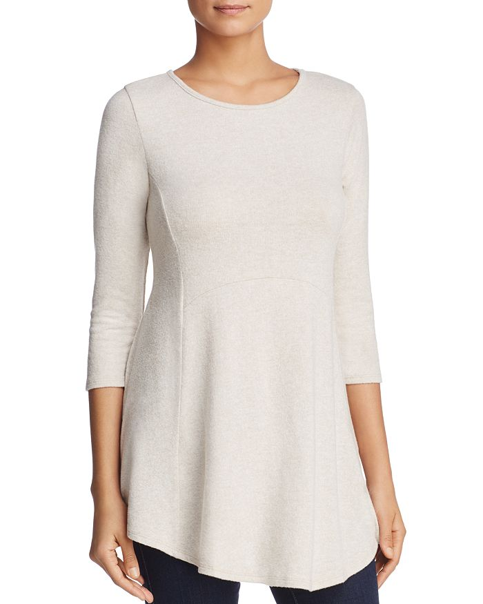 B Collection By Bobeau B COLLECTION BY BOBEAU BRUSHED TUNIC TOP
