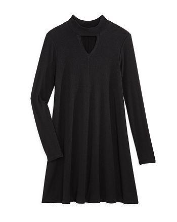 AQUA - Girls' Ribbed Mock-Neck Dress, Big Kid - 100% Exclusive