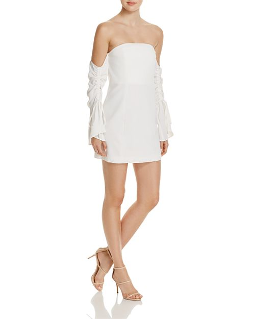 C/MEO Collective - Right Kind of Madness Off-the-Shoulder Dress