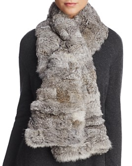 Surell - Pieced Rabbit Fur Scarf
