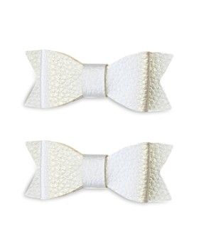 Baby Bling - Leather Bow Tie Clips