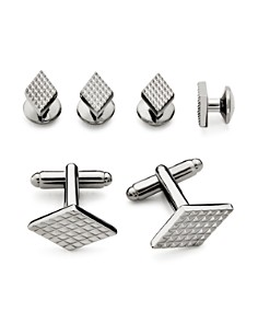 The Men's Store at Bloomingdale's Textured Diamond Stud and Cufflink Set - 100% Exclusive_0