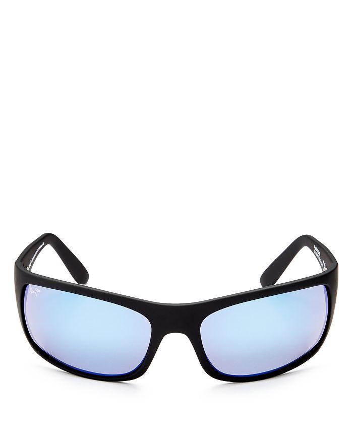 ff99a0190672 Maui Jim Men's Peahi Polarized Mirrored Wrap Sunglasses, 65mm ...