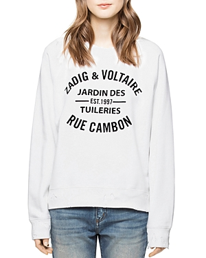 Zadig & Voltaire Distressed Logo Graphic Sweatshirt