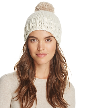 Echo Two-Tone Roving Knit Pom-Pom Beanie - 100% Exclusive