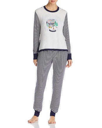Jane & Bleecker New York - Striped Long PJ Set - 100% Exclusive