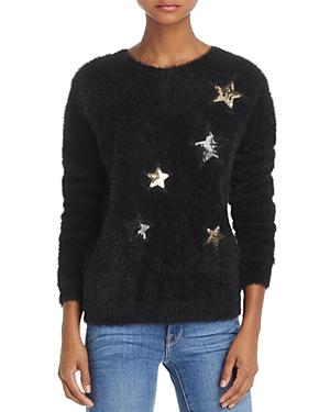 Molly Bracken Fuzzy Sequin-Star Sweater