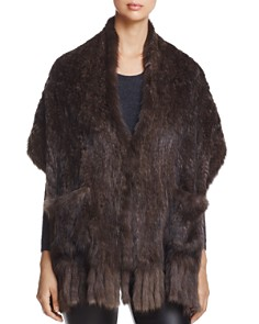 Maximilian Furs Sable Fur Knit Stole - 100% Exclusive - Bloomingdale's_0