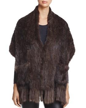 Maximilian Furs - Sable Fur Knit Stole - 100% Exclusive
