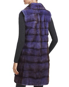 Maximilian Furs - Notch Collar Long Kopenhagen Mink Vest