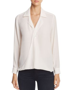 Foxcroft Claudette Draped Blouse