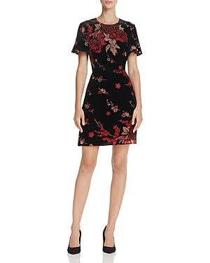 French Connection Wilma Devore Floral Mini Dress