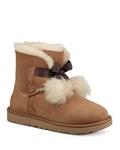 UGG® - Women's Gita Sheepskin & Fur Pom-Pom Booties