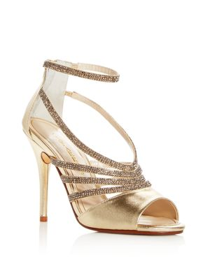 Caparros Women's Judith Embellished Ankle Strap High Heel Sandals
