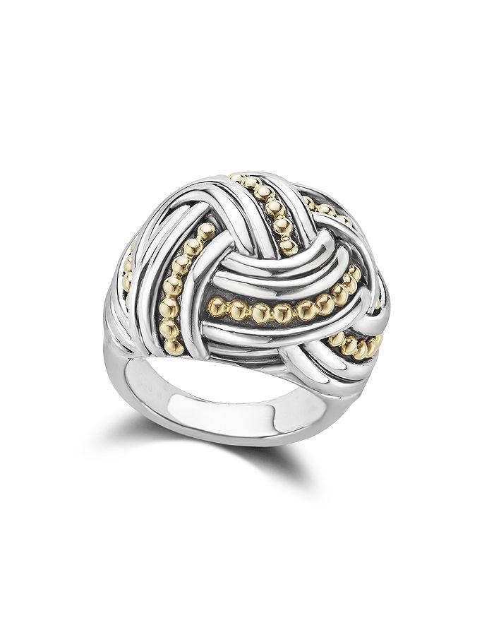 LAGOS - 18K Gold & Sterling Silver Torsade Large Round Ring